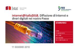 Internet@italia2018. Diffusione di internet e divari digitali nel nostro Paese