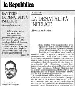 BATTERE LA DENATALITA' INFELICE